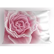 Light Pink Pillow Sham Romantic Rose Petals Beauty Bouquet Celebration Bridal Romance Wedding, Decorative Standard King Size Printed Pillowcase, 36 X 20 Inches, Pale Pink White, by Ambesonne