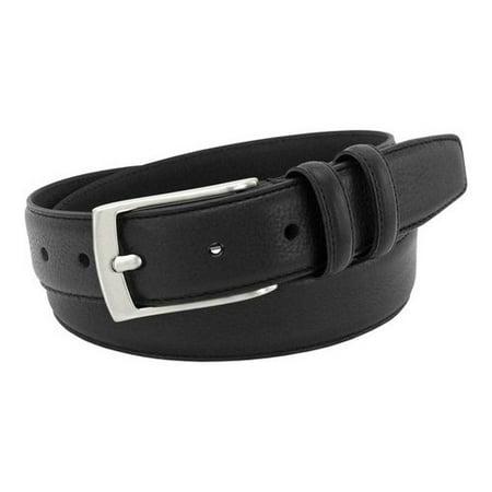 Men's Black Genuine Italian Leather (Medium Genuine Italian Leather)
