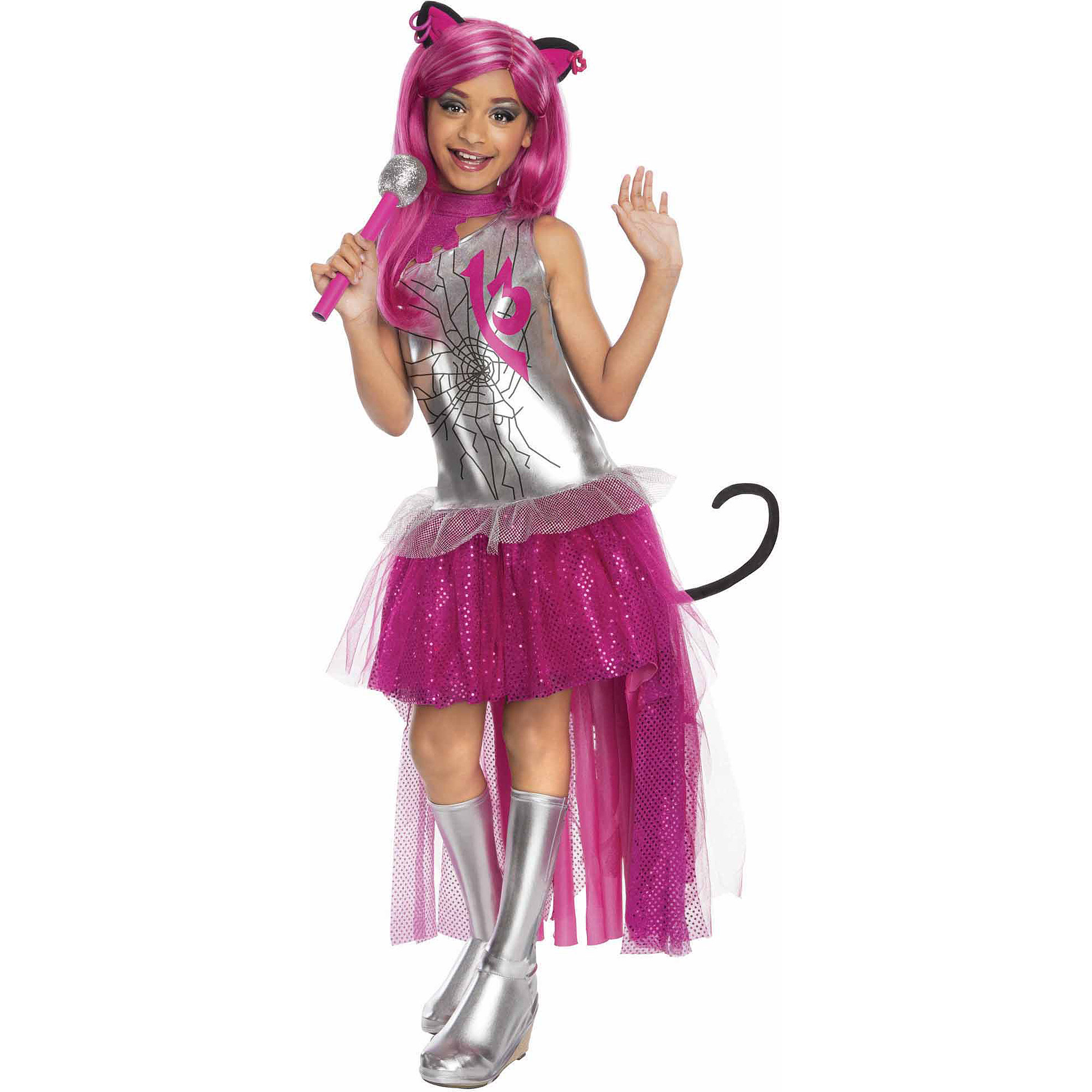 Monster High Catty Noir Child Dress Up Costume  sc 1 st  Walmart & Monster High Catty Noir Child Dress Up Costume - Walmart.com