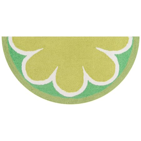 Half Moon Jewelry Case (Novogratz Lime Hand Hooked Kitchen Mat, 18