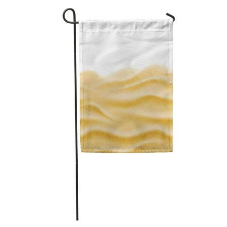 Desert Sand Pattern - KDAGR Desert Beach Sand Natural Wave Pattern Sandy Layer Sea Abstract Garden Flag Decorative Flag House Banner 12x18 inch