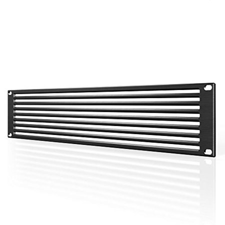 """AC Infinity Rack Panel Accessory Vent 2U Space for 19"""" Rackmount, Premium Aluminum Build and Anodized Finish"""