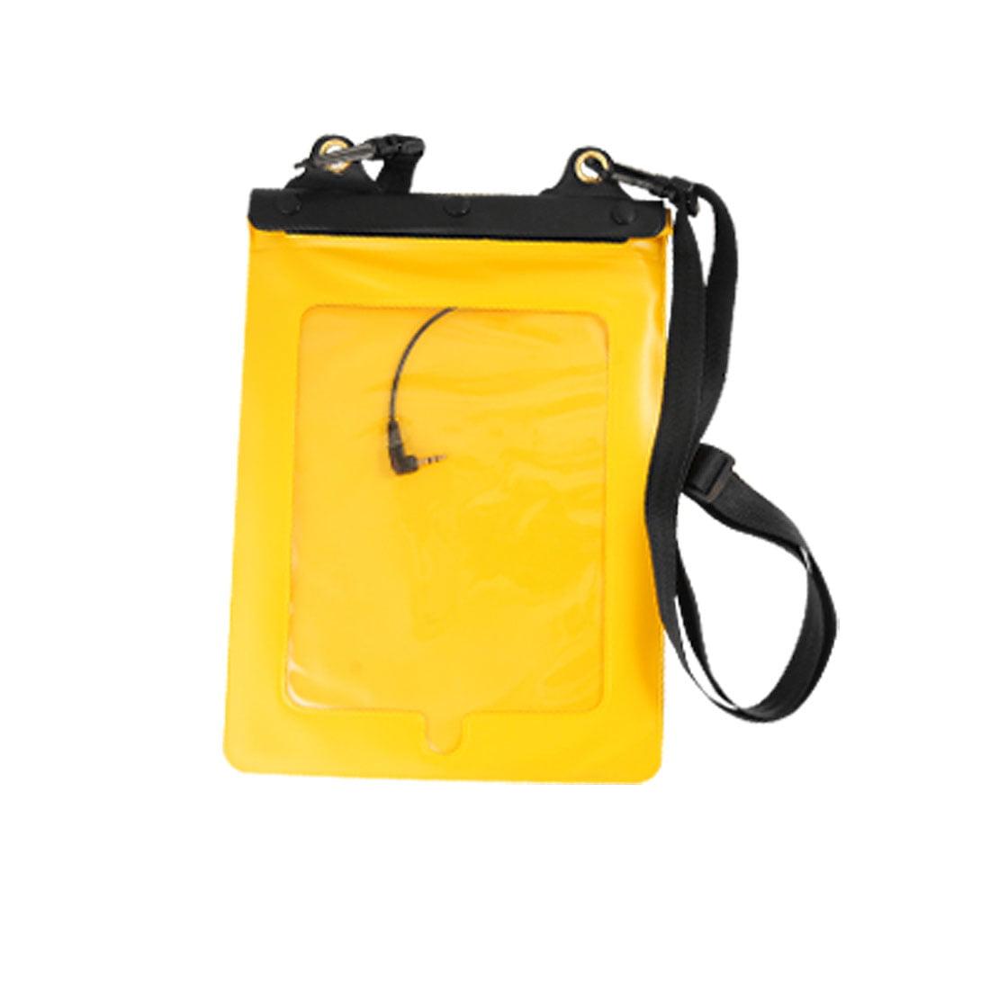 Unique Bargains Unique Bargains Yellow Water Resistant Bag w Earphone + Strap for HP TOuchpad Tablet