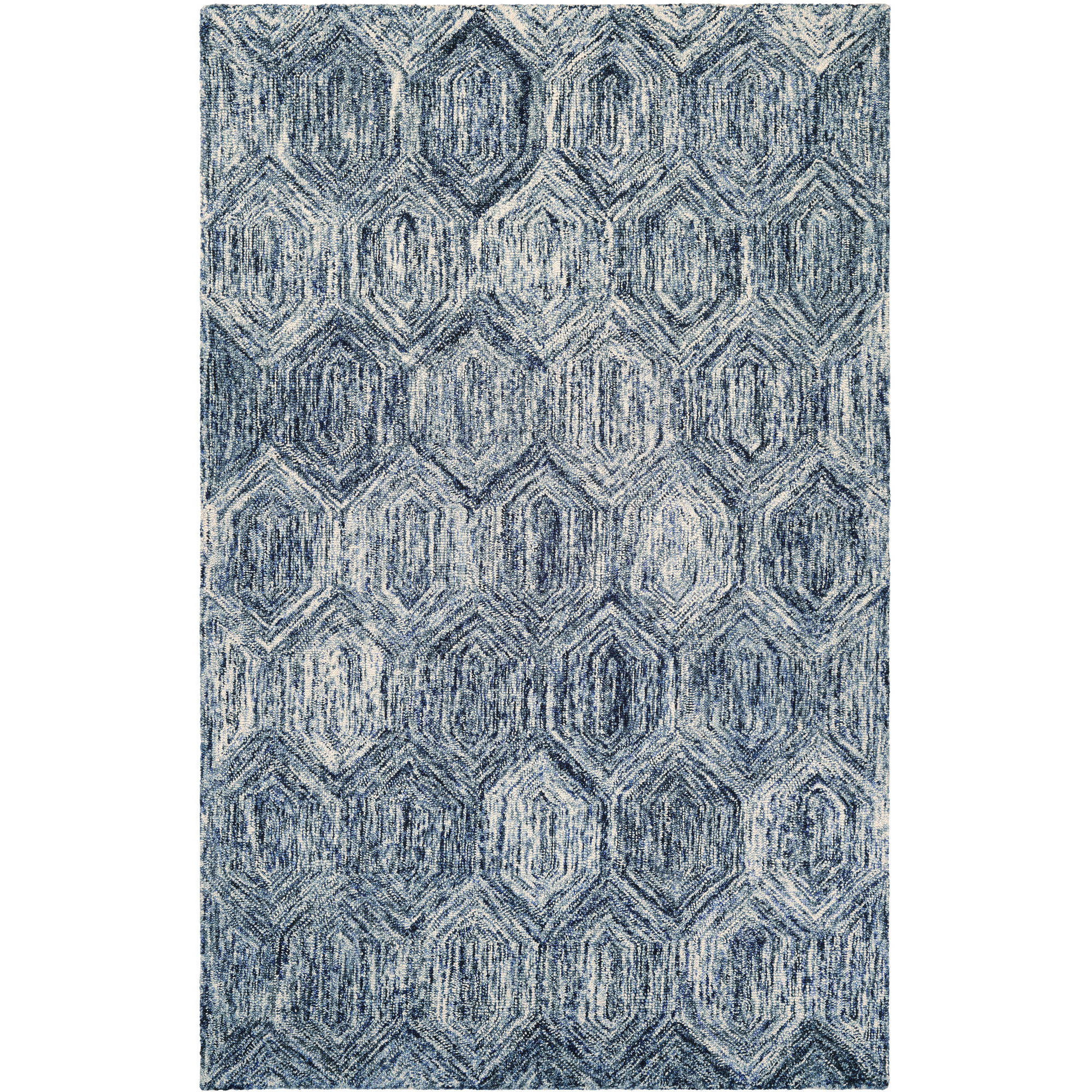 Couristan Graphite Ripples/Ivory-Azure Rug