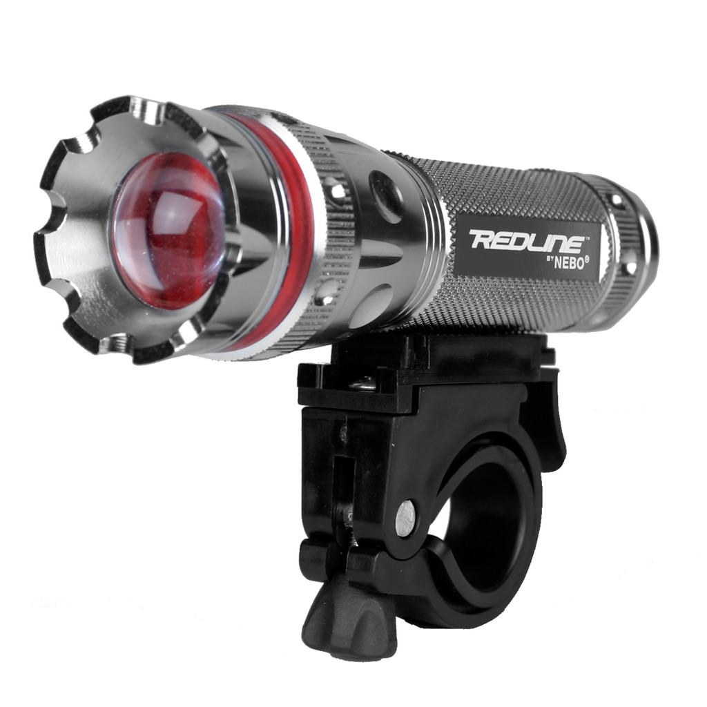 Nebo Redline 220 Lumens LED Bike Light 4x Adjustable Beam, Quick Release & 3Mode
