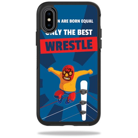 Skin for OtterBox Symmetry iPhone X - Best Wrestle| MightySkins Protective, Durable, and Unique Vinyl Decal wrap cover | Easy To Apply, Remove, and Change Styles | Made in the