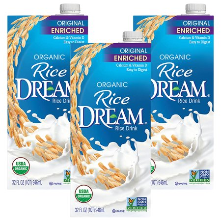 Low Fat Organic Brown Rice - (3 Pack) RICE DREAM Enriched Original Organic Rice Drink, 32 fl. oz.