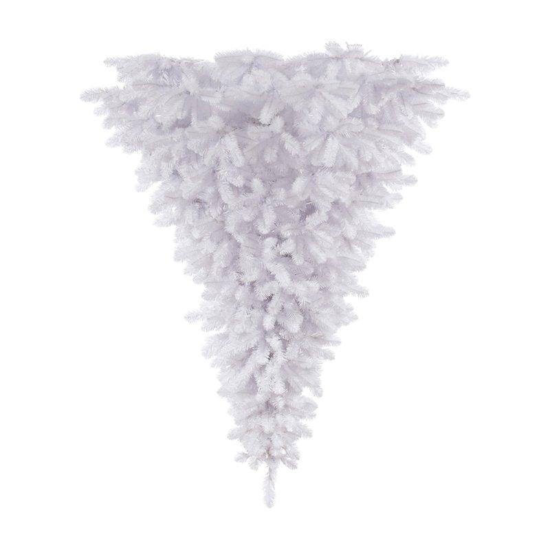 Upside Down White Christmas Tree: Vickerman 6' White Upside Down Artificial Christmas Tree