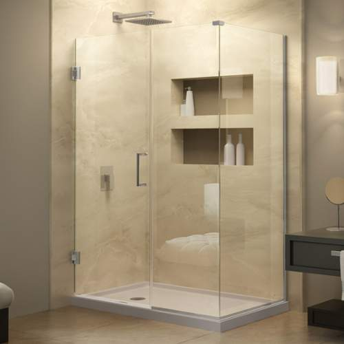 Bath Authority SHEN-24410340-01 DreamLine Unidoor Plus 41 inch W x 34-3/8 inch D x 72 inch H Hinged Shower Enclosure,