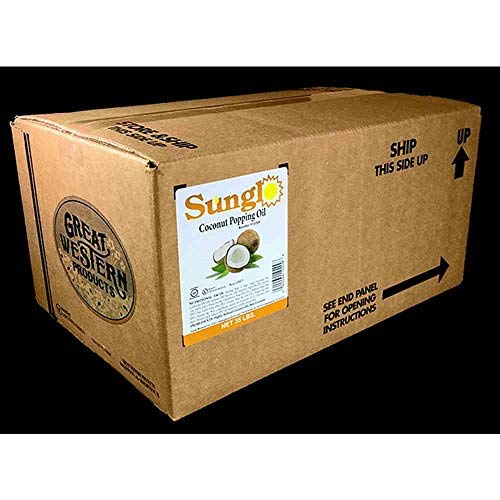 Great Western Sunglo Coconut Popping Oil, 35 Pound -- 1 each.