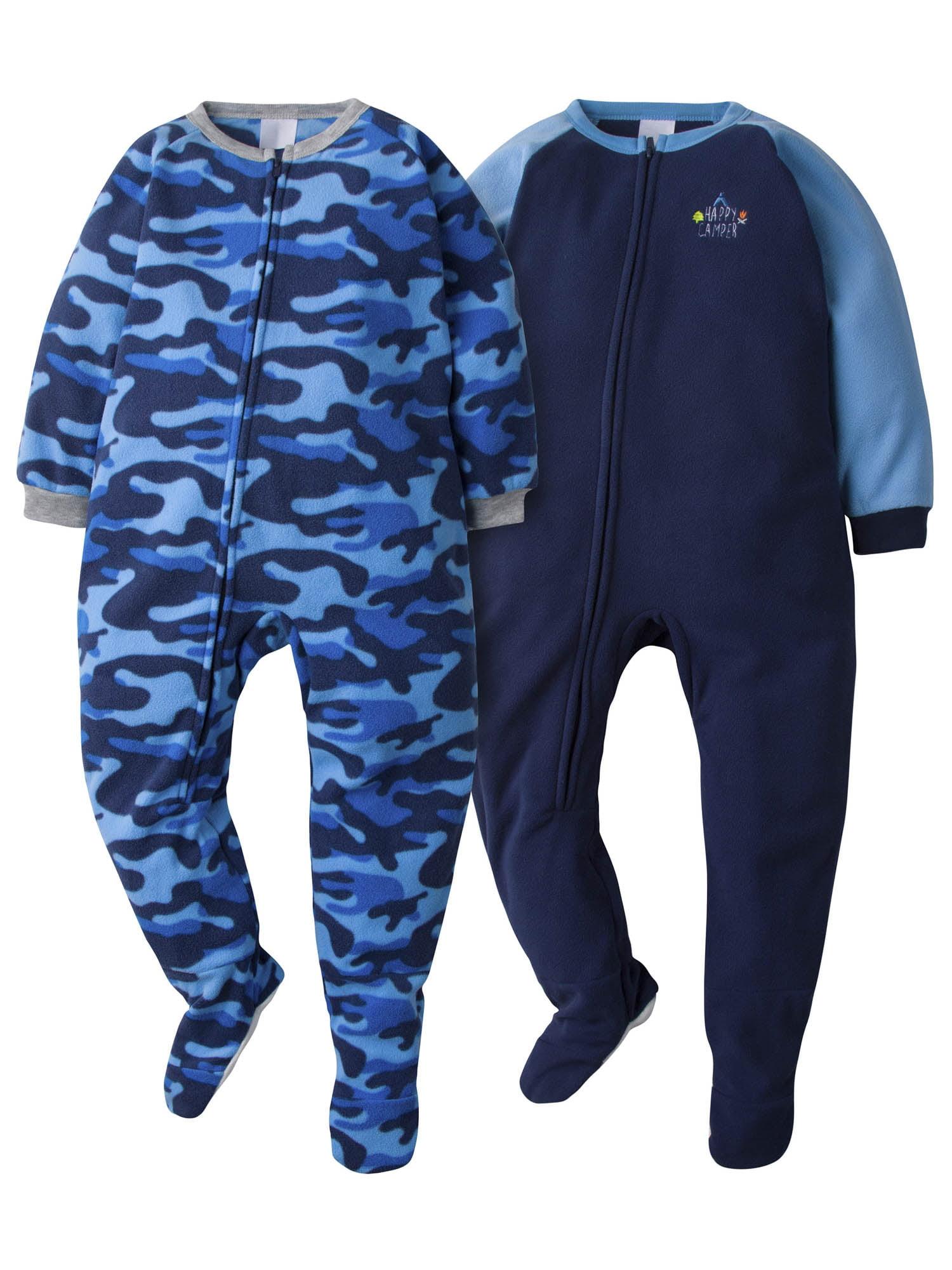 Gerber - Gerber Toddler Boys Microfleece Blanket Sleeper Pajamas, 2-Pack  (3T-5T) - Walmart.com - Walmart.com