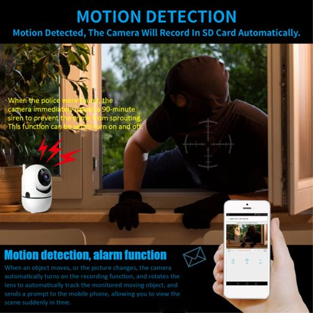 HD 720P 1080P Cloud Wireless IP Camera Intelligent Auto Tracking Home Security - image 2 of 5