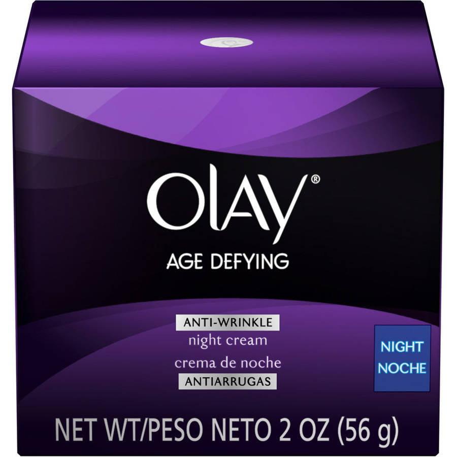 Olay Age Defying Anti-Wrinkle Night Facial Moisturizer Cream, 2 oz