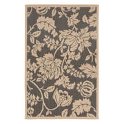 Liora Manne Terrace 1779/77 Floral Charcoal Area Rug 39 Inches X 59 Inches