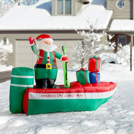 The Holiday Aisle Christmas Inflatable Santa Claus Fishing - Hanukkah Inflatable Decorations