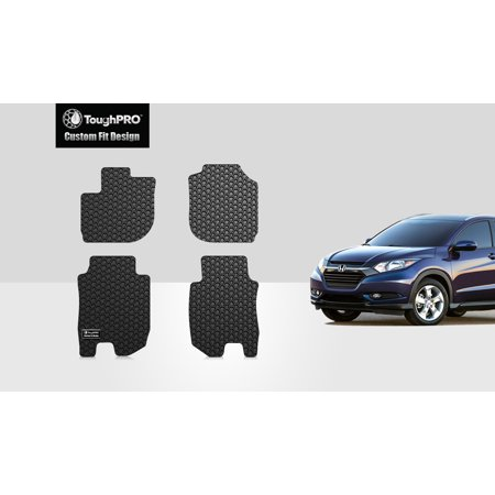 ToughPRO - HONDA HR-V 1st & 2nd Row Mats - All Weather - Heavy Duty - Black Rubber - 2016 ()