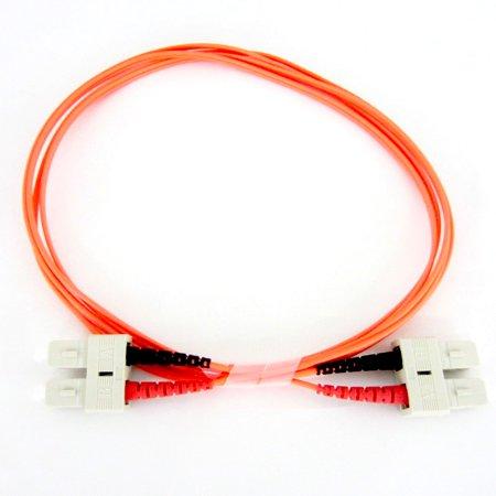 - Fiber Optic Cable - Multimode Duplex 50/125 - OFNP Plenum - SC/SC - 2 Meter