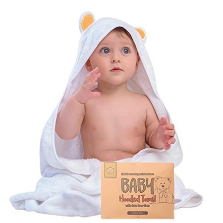 Baby Hooded Towel - Bamboo Baby Towel by KeaBabies - Organic Bamboo Towel - Infant Towels - Large Bamboo Hooded Towel - Baby Bath Towels with Hood for Girls, Babies, Newborn Boys, Toddler (Bear)](Towels For Boys)