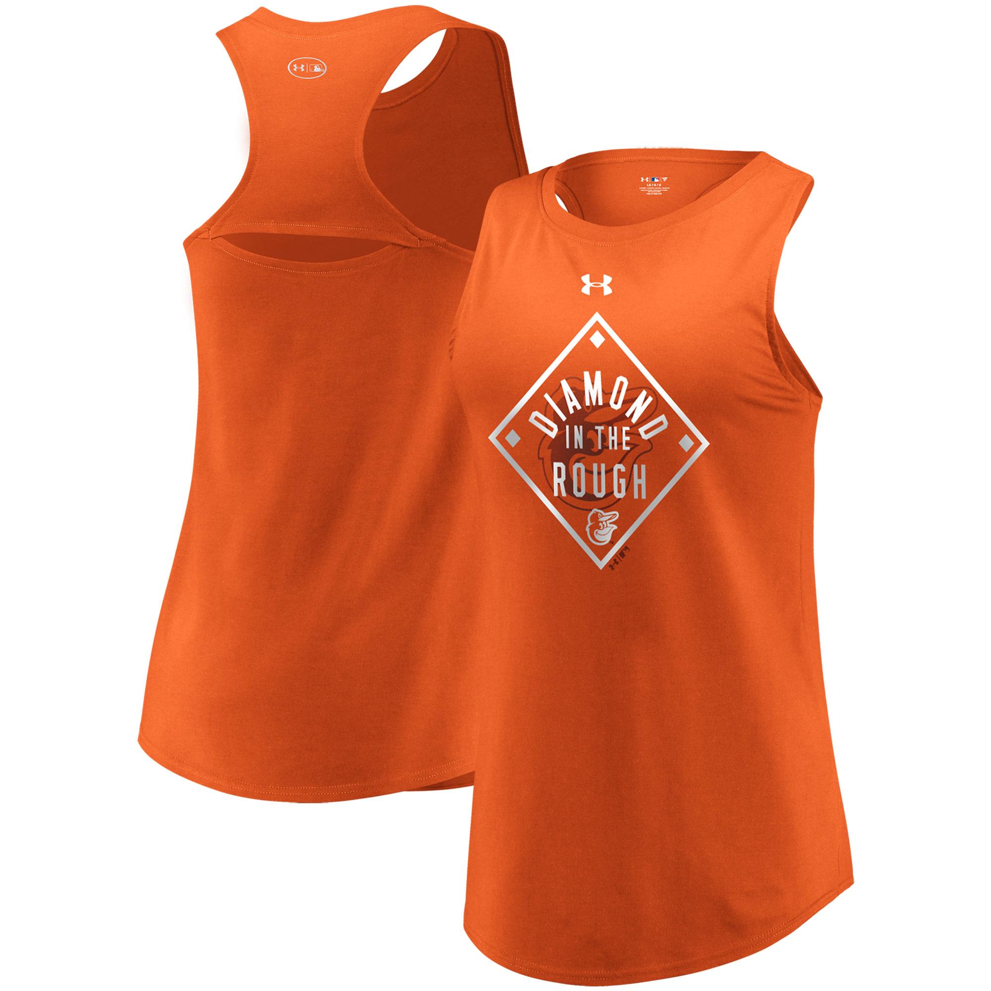 Baltimore Orioles Under Armour Women's Passion Diamond Tri-Blend Performance Tank Top Orange by MAJESTIC LSG