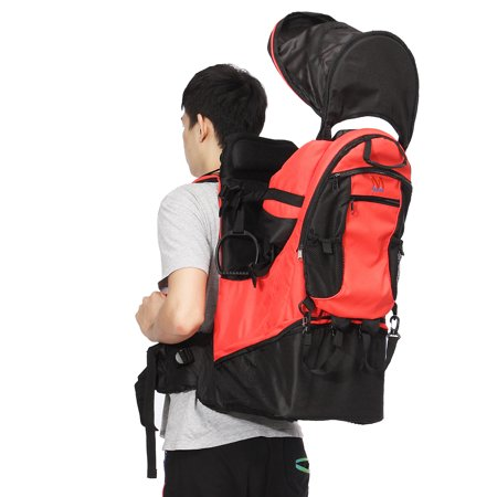 79c2e591e44 Baby Kid Carrier Backpack Stand Foldable With Sun Hiking Carrier Backpack  Canopy   Raincover for Hiking Walking - Walmart.com