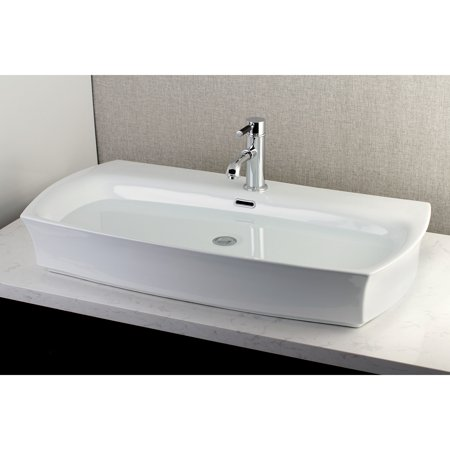 Kingston Br Contemporary Large 35 Inch Elongated Vessel Bathroom Sink