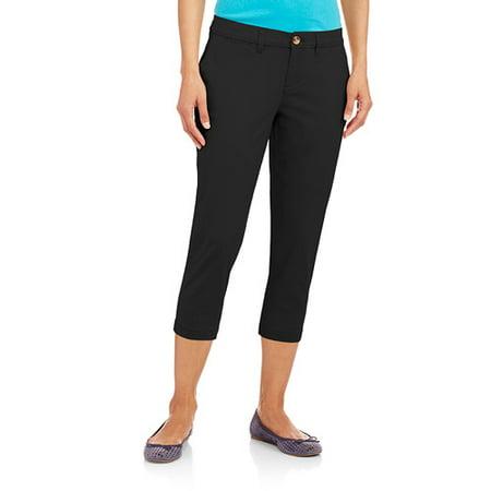 Faded Glory Women's Chino Capri Pants - Walmart.com