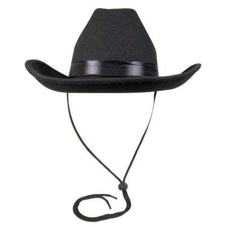 Adult Black Cowboy Cowgirl Deluxe Felt Hat Costume Accessory Western - Black Cowgirl Hat With Rhinestones