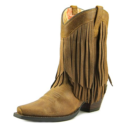 Ariat GOLDRUSH Women  Square Toe Leather Brown Western Boot (Boots Ariat Women)
