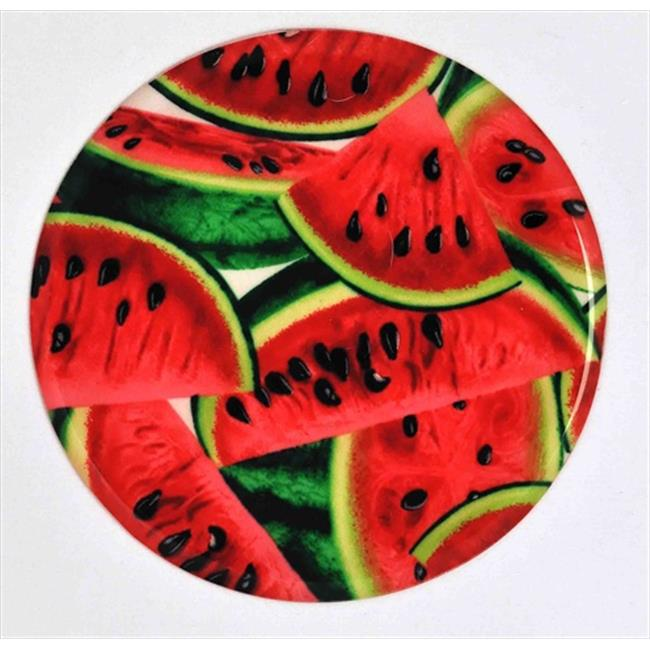Andreas JO-242 Watermelon Round Silicone Mat Jar Opener - Pack of 3 trivets