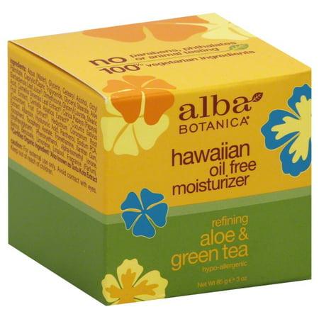 Alba Botanica Hawaiian Oil Free Moisturizer  Aloe   Green Tea  3 Oz