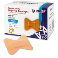 Flexible Fabric Bandages - Flex Fabric Adhesive Bandages Finger-Tip Bandages for Finger Careand to Protect Wounds from Infection - (100 Count Box)
