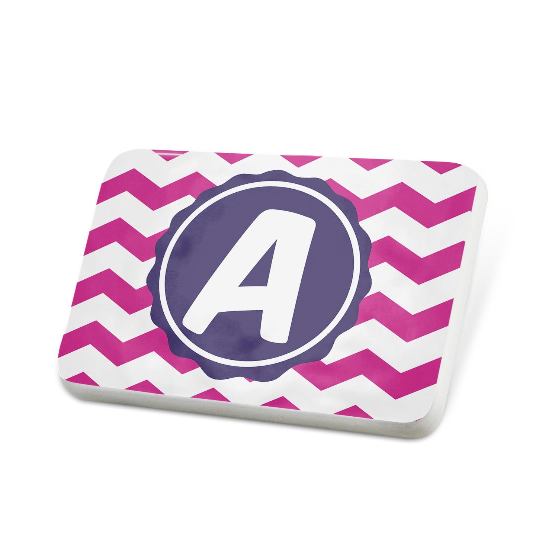 Porcelein Pin Monogram APink Purple Chevron Lapel Badge – NEONBLOND