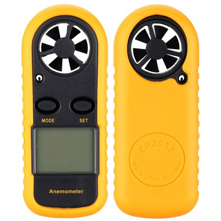 Digital LCD Air Wind Speed Meter Tester Temperature Gauge Anemometer Handheld Thermometer