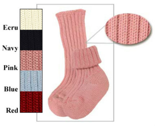 Sternlein Organic Cotton Triple Roll Boy Girl Baby Socks 0-6-12-24 Months