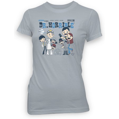 Sing Along With Dr. Horrible Silver Juniors T-Shirt |