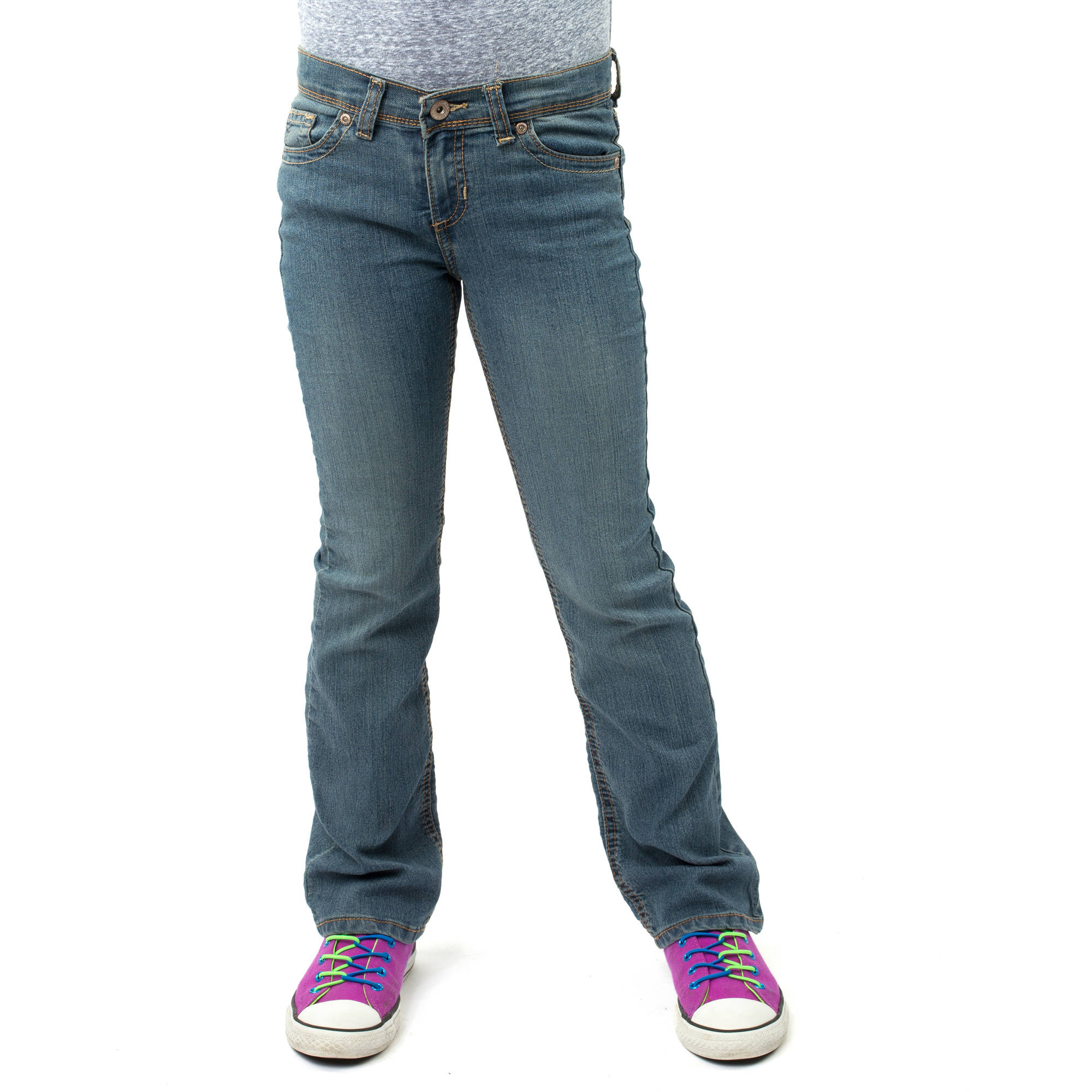 Jordache Girl's Bootcut Denim Jean, Slim Fit - Walmart.com