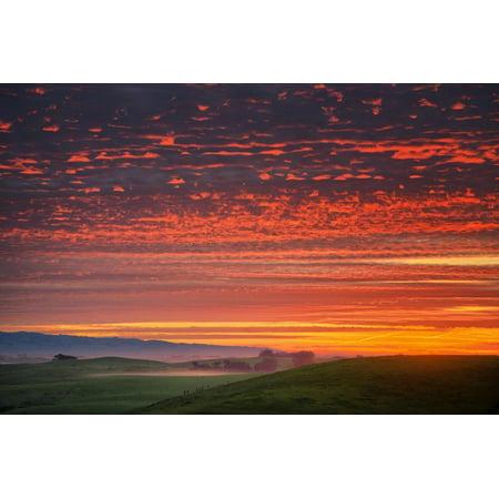 Heavenly Sunrise Burn, Northern California Print Wall (Heavenly California)