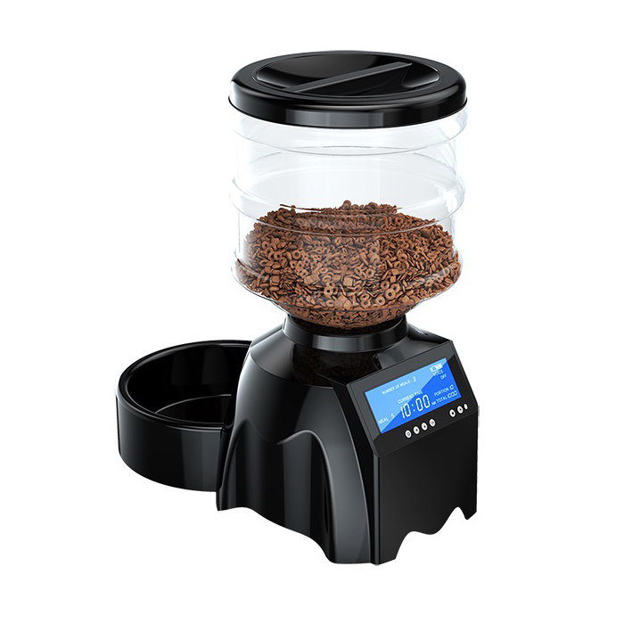 "TAMO Perfect Dinner Automatic Pet Feeder with Built-in Microphone and 4"" Display"