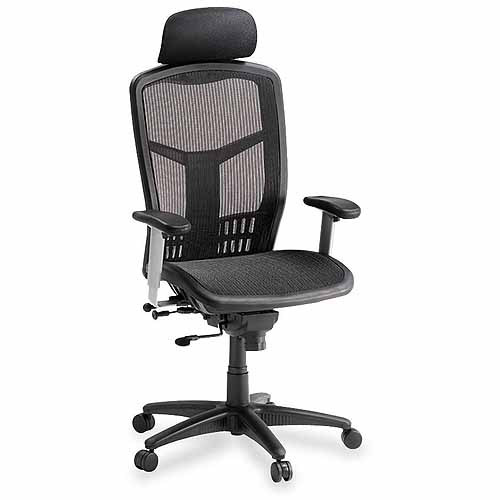 Lorell High-Back Mesh Chair, Black