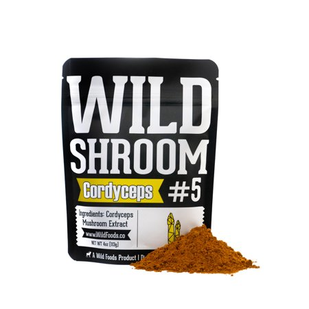 Cordyceps Mushroom - Wild Foods Cordyceps Sinensis Mushroom Powder Extract | Superfood Mushroom Powder Extracts 10:1 - 2oz