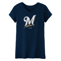 MLB Milwaukee BREWERS TEE Short Sleeve Girls 50% Cotton 50% Polyester Team Color 7 - 16