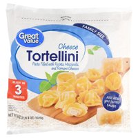 Great Value Frozen Cheese Tortellini, Family Size, 36 oz