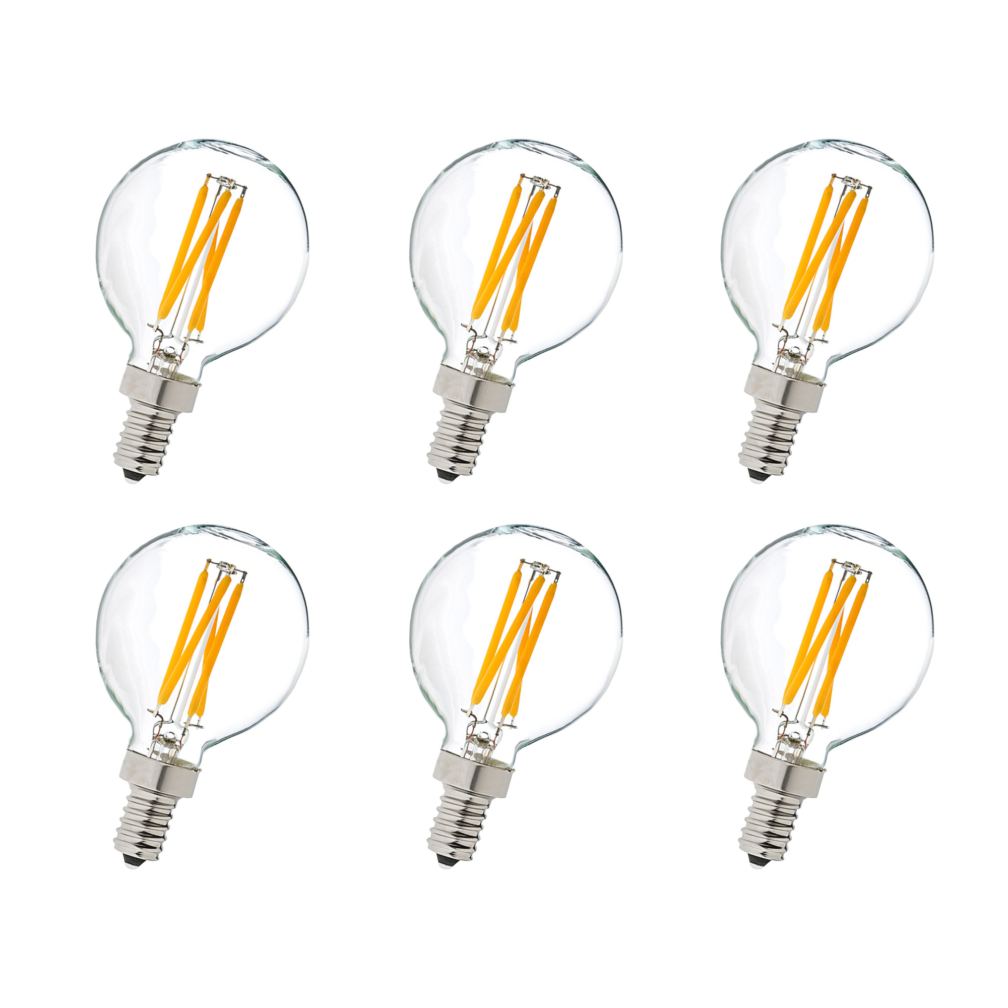 Elegant Lighting G14LED101 4 Watt Dimmable G14 Shaped Candelabra (E12) LED Bulb - Pack of 6
