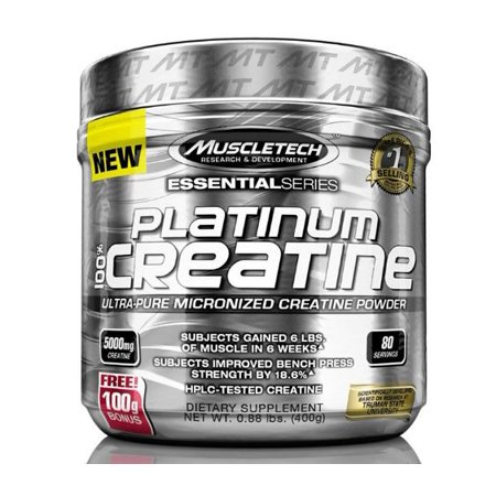 Essential Series Creatine Monohydrate Powder, 100% Pure Micronized Creatine Powder, Muscle Builder & Recovery, 80 Servings (400g)