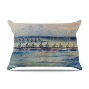 East Urban Home Josh Serafin Crew Rowing Pillow Case