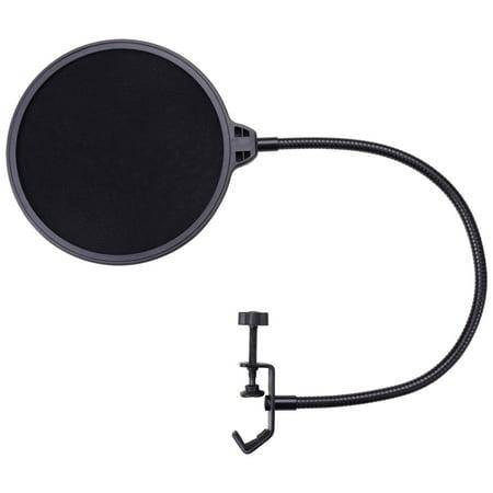 microphone pop filter for condenser microphone mic wind screen mask shield mount gooseneck. Black Bedroom Furniture Sets. Home Design Ideas