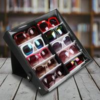 EOTVIA 10 Mesh Slots Canvas Glasses Storage Case Sunglasses Organizer Display Box , 10 Slots Glasses Storage Case,Glasses Storage Case