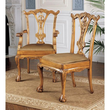 English Chippendale Chairs Set Includes 2 Armchairs And 4 Side