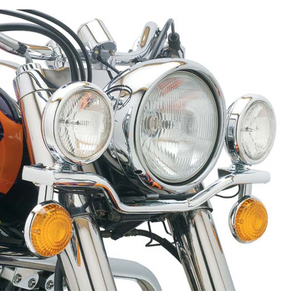 Cobra Lightbar Square w/Shallow Spotlights Fits 98-02 Honda VT1100C3 Shadow Aero