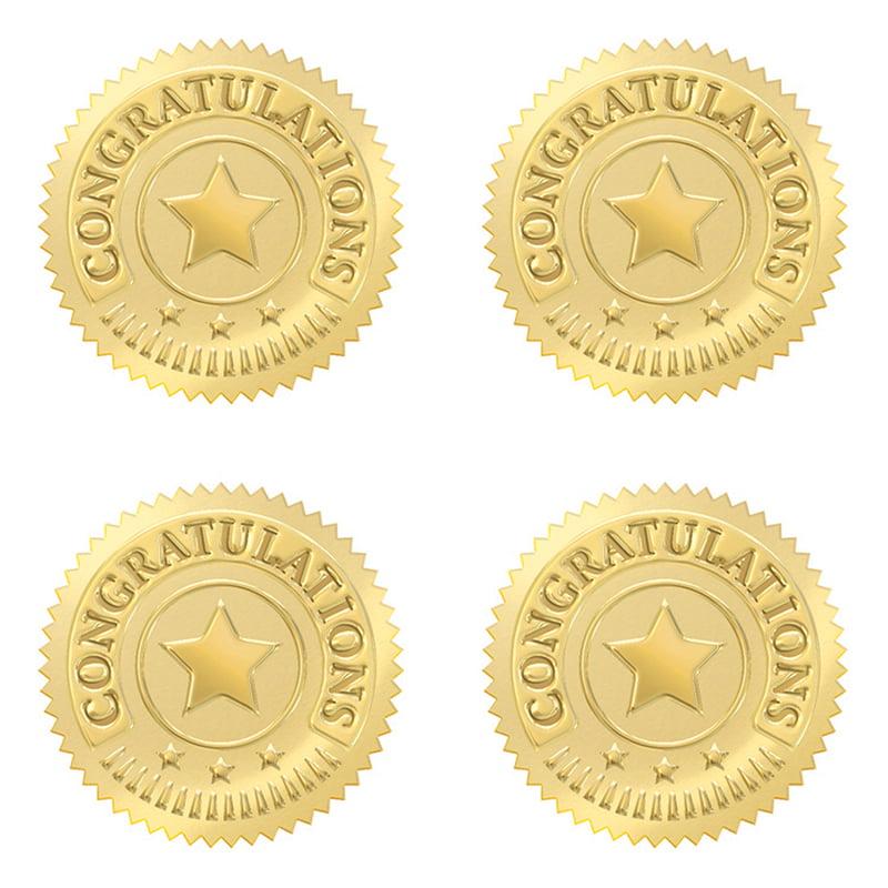 (6 PK) CONGRATULATIONS GOLD AWARD SEALS 32 PER PK